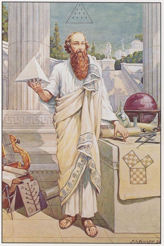 Pythagoras teaching
