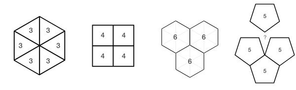 the 9 regular tessellations