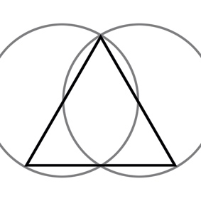 triangle derived from Vesica Piscis